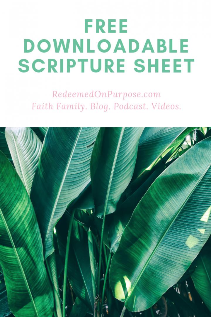 Free Scripture Sheet