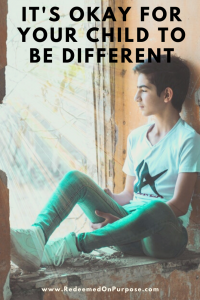 It's Okay for Your Child to be Different Pinterest Graphic