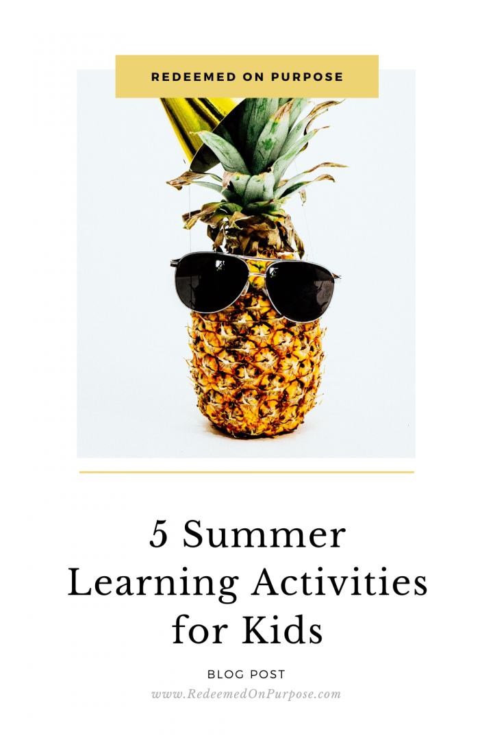 5 Summer Learning Activities for Kids